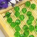 Beads, Auralescent Crystal, Crystal, Green , Faceted Rounds, Diameter 6mm, 10 Beads, [ZZC230]